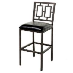 Chair Bed Stool Where To Rent Covers And Sashes Fashion Group 30 In Lansing Metal Bar With Black Upholstered Seat Coffee Frame Finish