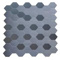 Instant Mosaic 12 in. x 12 in. Peel and Stick Metal Mosaic ...