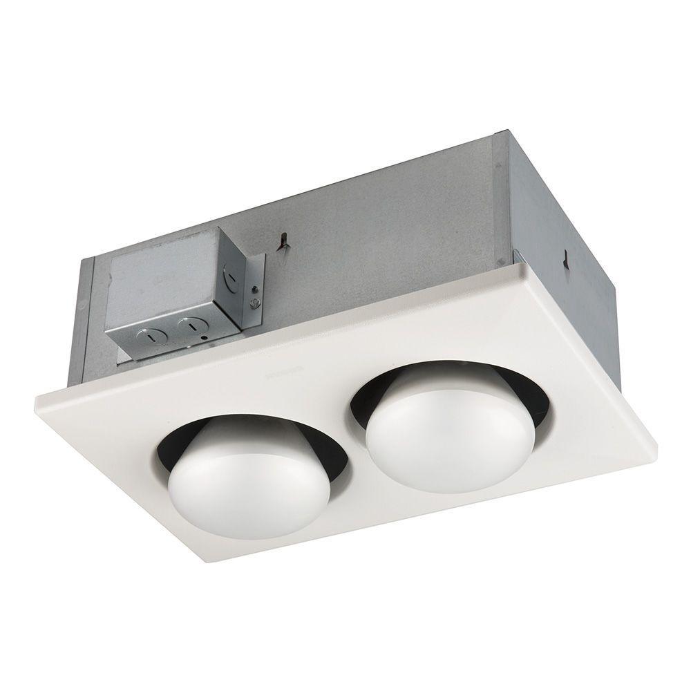 medium resolution of broan 500 watt 2 bulb ceiling infrared heater 163 the bathroom ceiling heaters electric electric bathroom