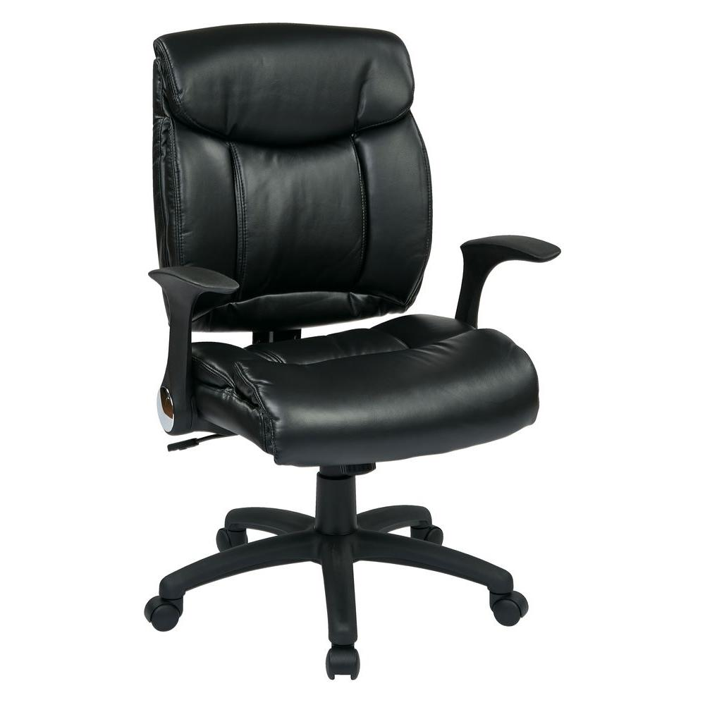 Work Smart Black Faux Leather Manager Office ChairFL89675