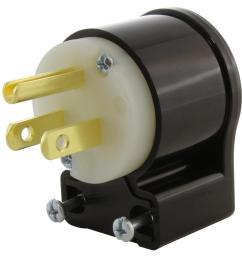 15 amp 125 volt nema 5 15p 3 prong all angles elbow household male plug [ 1000 x 1000 Pixel ]