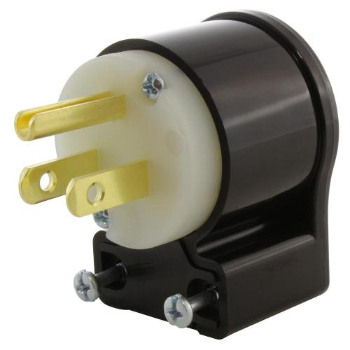 small resolution of 15 amp 125 volt nema 5 15p 3 prong all angles elbow household male plug