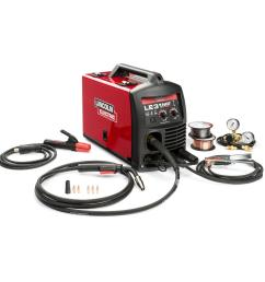 140 amp le31mp multi process stick mig tig welder with magnum pro 100l gun mig and flux cored wire single phase 120v [ 1000 x 1000 Pixel ]