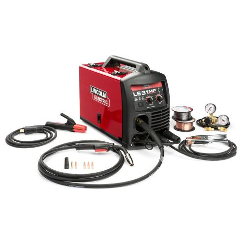 small resolution of 140 amp le31mp multi process stick mig tig welder with magnum pro 100l gun mig and flux cored wire single phase 120v