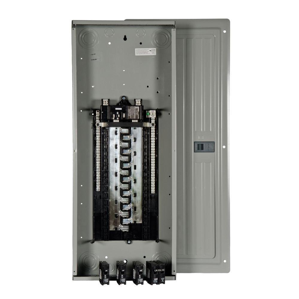 hight resolution of siemens es series 200 amp 30 space 54 circuit main breaker load center value