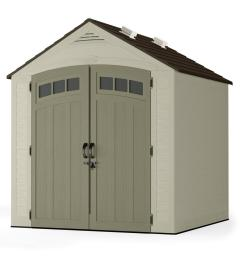 suncast vista 7 ft x 7 ft resin storage shed bms7702 the home depot outdoor bike storage shed plastic outdoor shed electrical wiring [ 1000 x 1000 Pixel ]