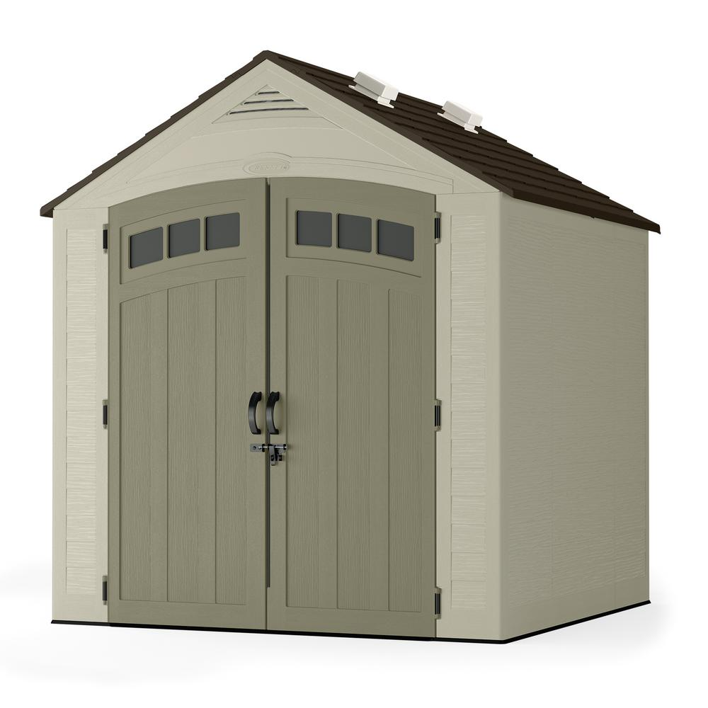 hight resolution of suncast vista 7 ft x 7 ft resin storage shed bms7702 the home depot outdoor bike storage shed plastic outdoor shed electrical wiring