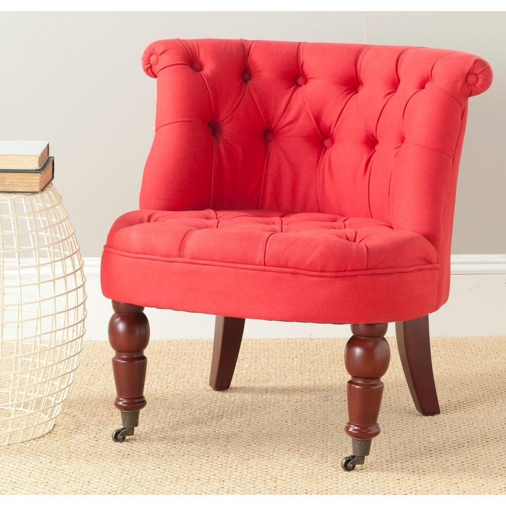 tufted accent chairs medicine ball chair benefits safavieh carlin cranberry cotton mcr4711d the