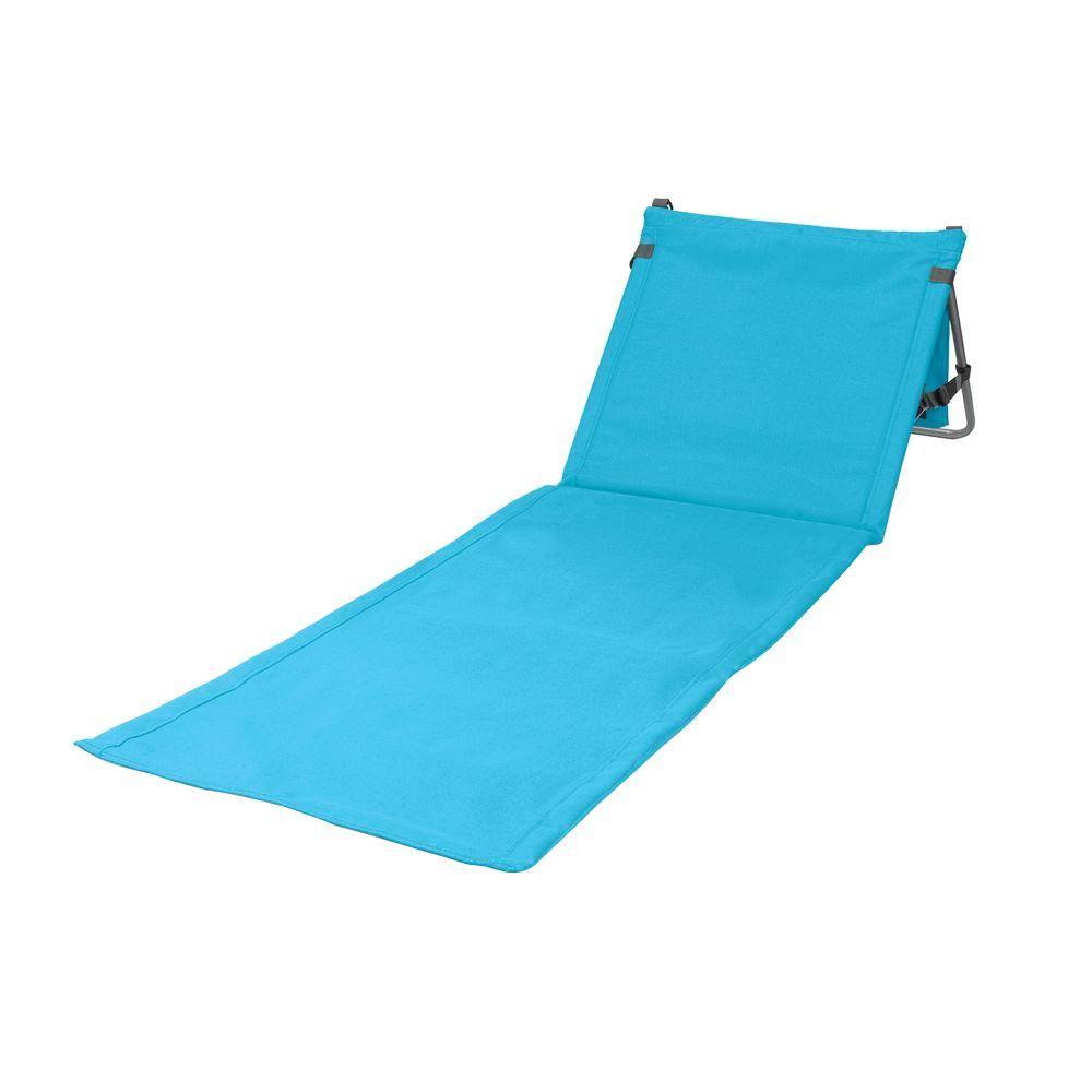 portable beach chair bed uk gumtree picnic time cornflower blue beachcomber patio mat 802 00 125