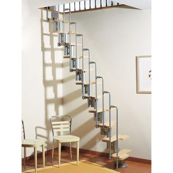 Arke Karina Grey Modular Staircase Kit K33022 The Home Depot   Spiral Staircase For Loft Conversion   Loft Room   Stairwell Low   Narrow   Tight Space   Step By Step