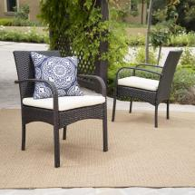 Noble House Cordoba Multi-brown Removable Cushions Wicker