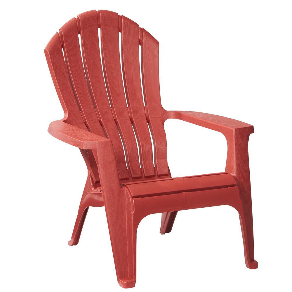RealComfort Brickstone Red Patio Adirondack Chair837195