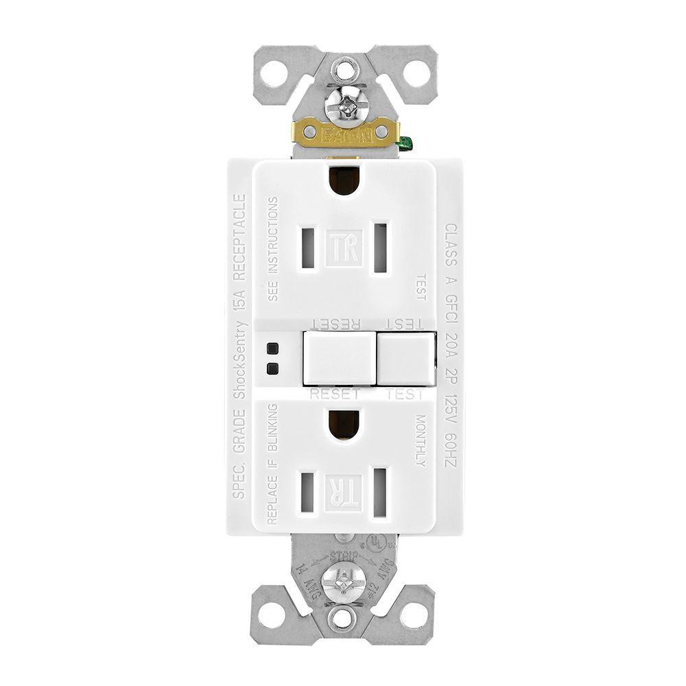 medium resolution of eaton gfci self test 15a 125v tamper resistant duplex receptacle shop cooper wiring devices 20amp 125volt white gfci decorator tamper