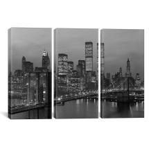Icanvas 1980s York City Lower Manhattan Skyline