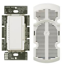 lutron maestro 1 amp multi location 7 speed fan control white [ 1000 x 1000 Pixel ]