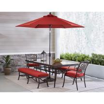 Hanover Traditions 5-piece Aluminum Outdoor Dining Set