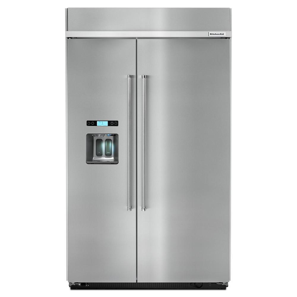 medium resolution of built in side by side refrigerator in stainless steel