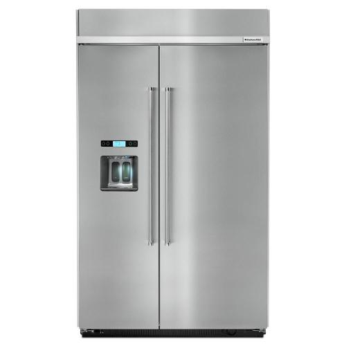 small resolution of built in side by side refrigerator in stainless steel