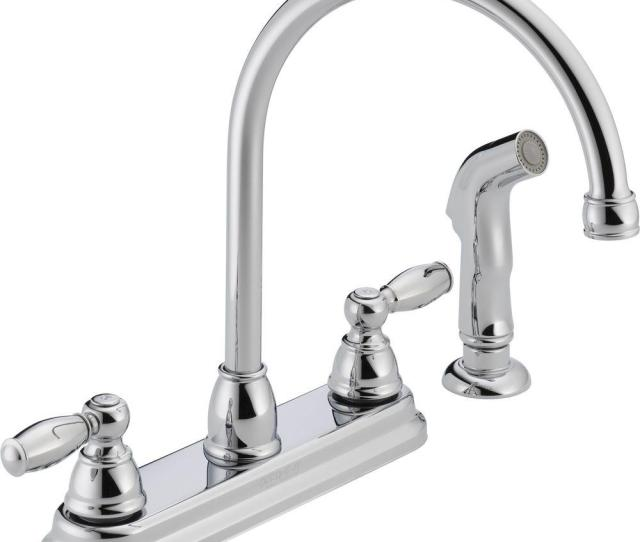 Peerless Apex  Handle Standard Kitchen Faucet With Side Sprayer In Chrome