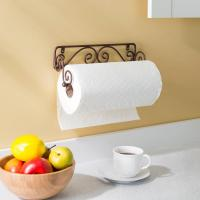 HOME basics Wall Mounted Bronze Paper Towel Holder Scroll ...