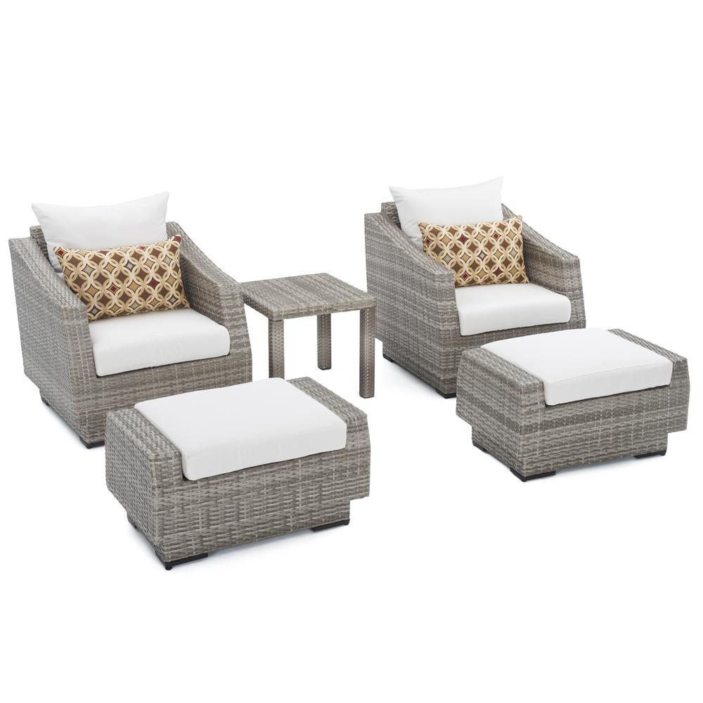 patio club chair what makes a good gaming rst brands cannes 5 piece wicker and ottoman set with moroccan cream