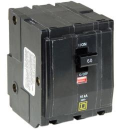 square d qo 60 amp 3 pole plug in circuit breaker [ 1000 x 1000 Pixel ]