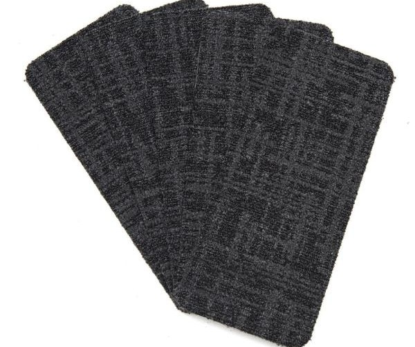 Nance Carpet And Rug Peel And Stick Charcoal Indoor Outdoor 8 In | Self Stick Carpet Stair Treads | Stair Nosing | Stairway | Anti Slip | Stick Bullnose Wraparound | Beaudoin Utility Peel