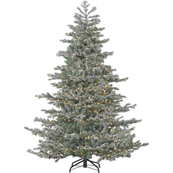 Ge 7.5 Ft. Cut Noble Fir Ez Light Artificial Christmas Tree With 800 Color Choice Led