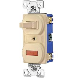 eaton heavy duty grade 15 amp combination single pole toggle switch and pilot light in [ 1000 x 1000 Pixel ]