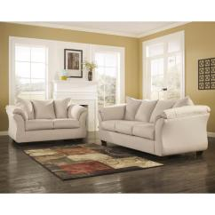 Ashley Living Room American Furniture In Egypt Flash Signature Design By Darcy 2 Piece Stone Fabric Set