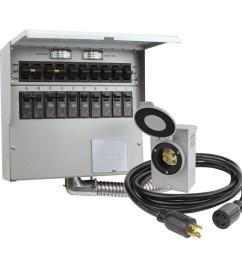10 circuit 30 amp manual transfer switch kit [ 1000 x 1000 Pixel ]