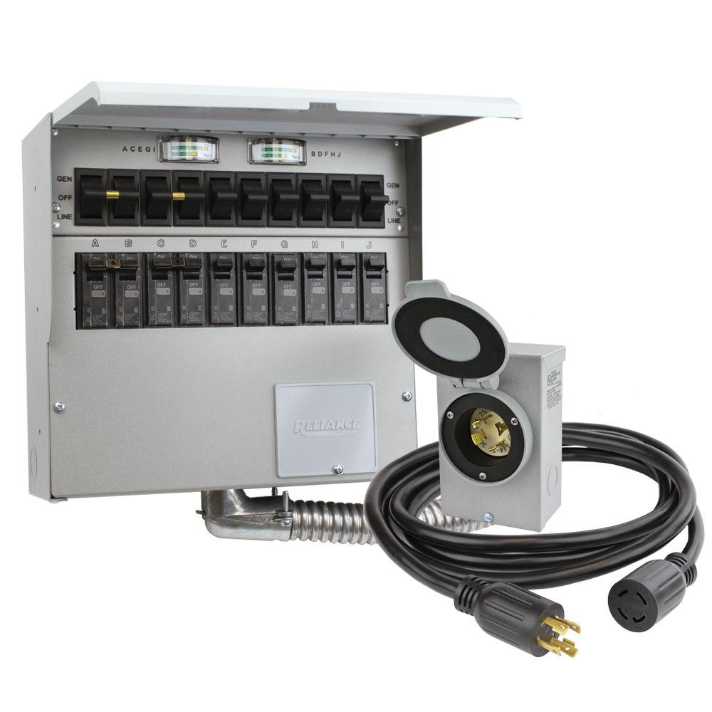 hight resolution of 10 circuit 30 amp manual transfer switch kit