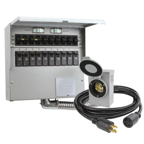 small resolution of 10 circuit 30 amp manual transfer switch kit