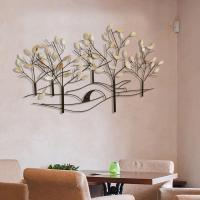 Oil-Rubbed Bronze Tree-Lined Street Metal Work Wall Decor ...