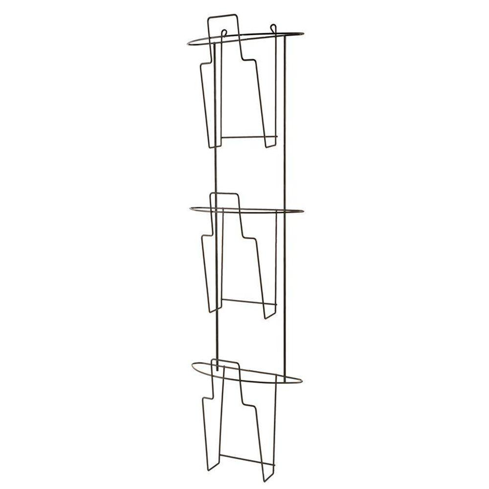 Buddy Products Wire Ware 3-Pocket Curved Literature Holder