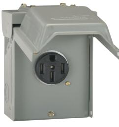 ge 50 amp temporary rv power outlet [ 1000 x 1000 Pixel ]