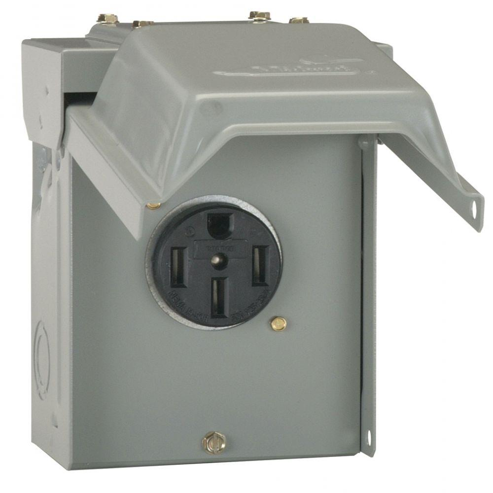 hight resolution of ge 50 amp temporary rv power outlet