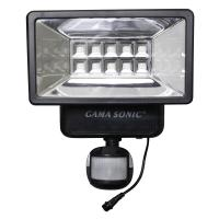 Gama Sonic 160 Black Outdoor Solar Powered Security Light