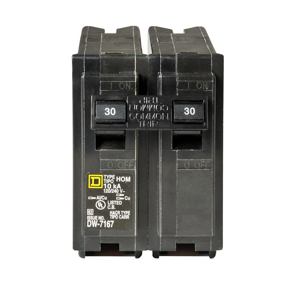 hight resolution of square d homeline 60 amp 2 pole circuit breaker hom260cp the home depot