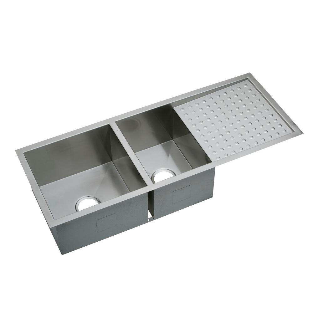 elkay kitchen sinks brown backsplash crosstown undermount stainless steel 47 in double bowl sink