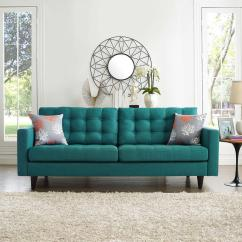 Teal Sofas Sofa Cover Maker Quezon City Modway Empress Upholstered Fabric Eei 1011 Tea The Home