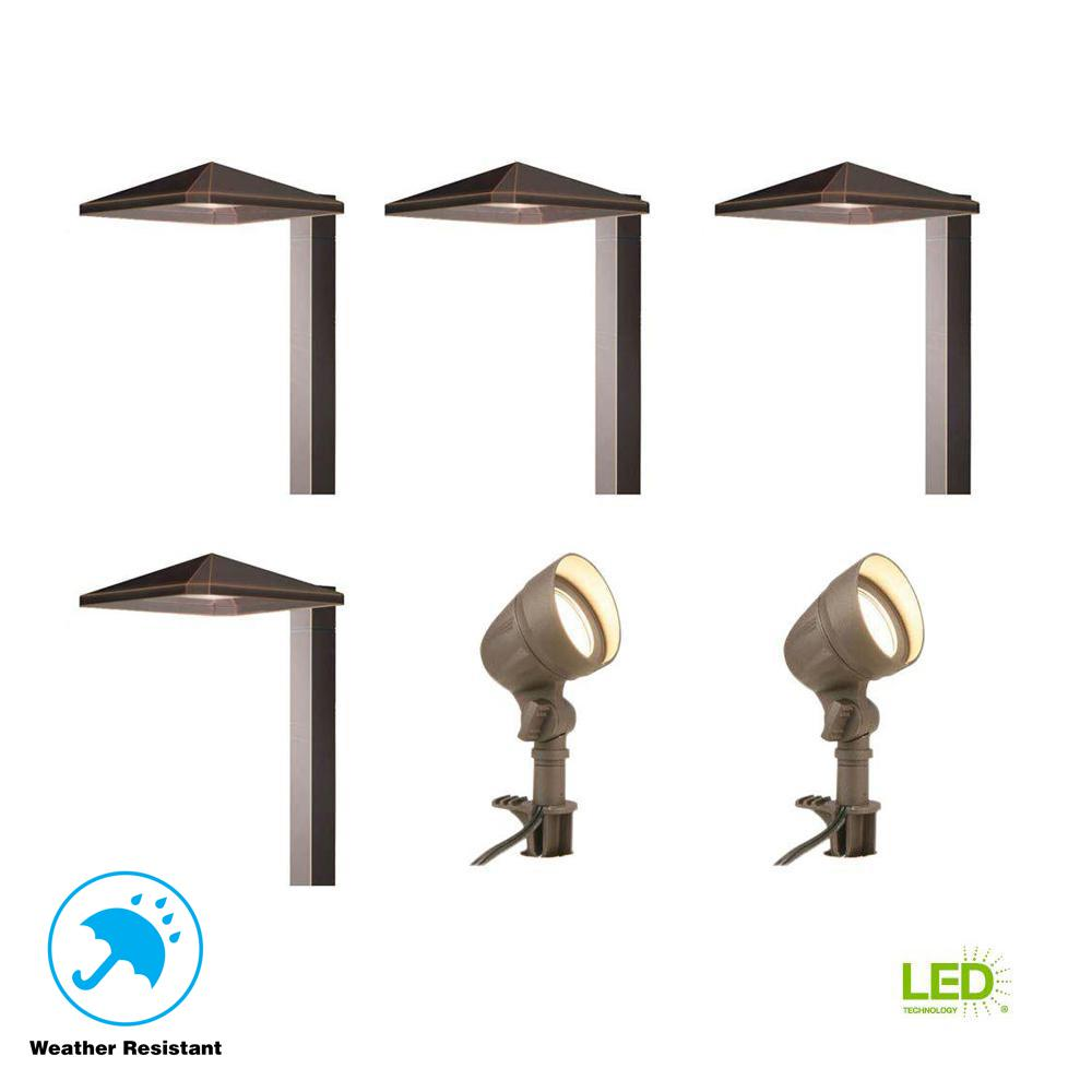 hight resolution of hampton bay low voltage bronze outdoor integrated led landscape led lighting wiring hampton bay low voltage