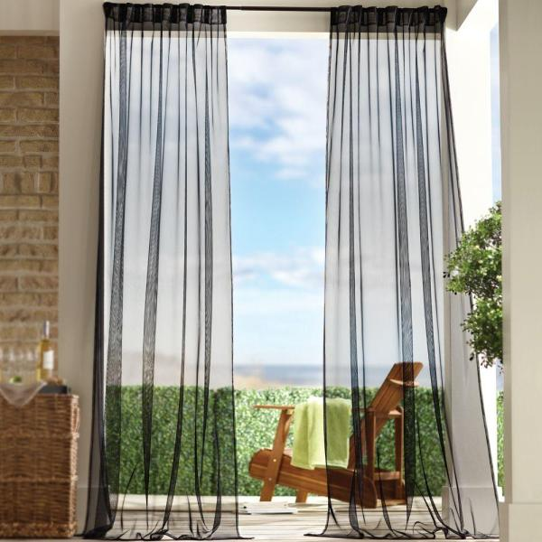 Black Sheer Outdoor Curtains