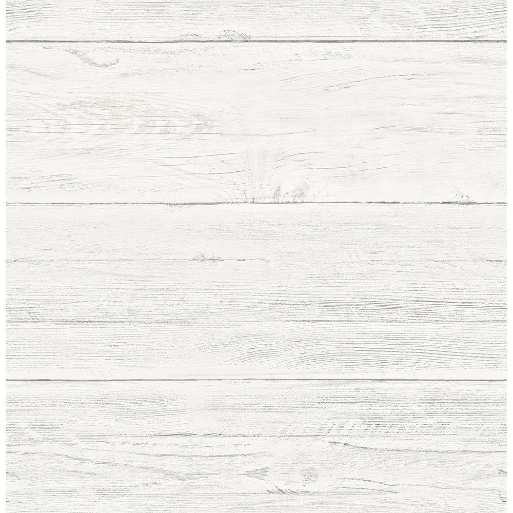 Brewster Cream White Washed Boards Shiplap Wallpaper-2701