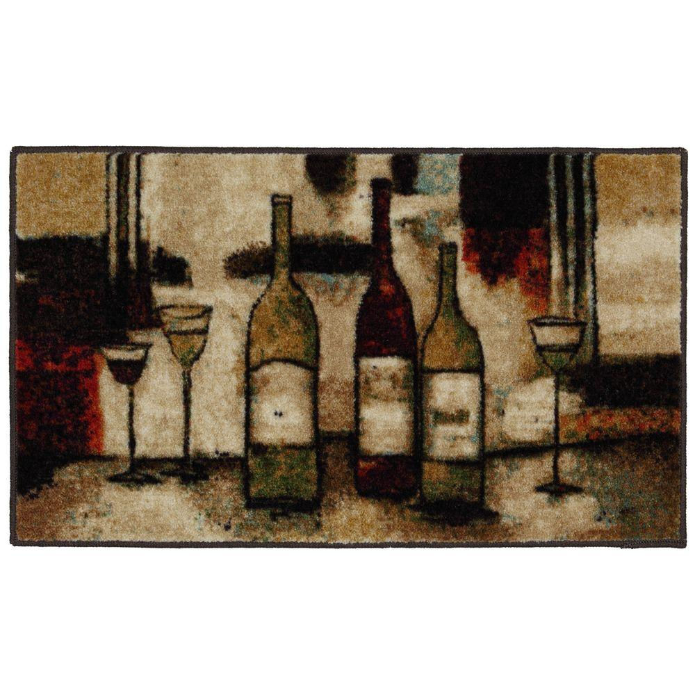 mohawk kitchen rugs blanco faucet home wine and glasses multi 1 ft 8 in x 3 9