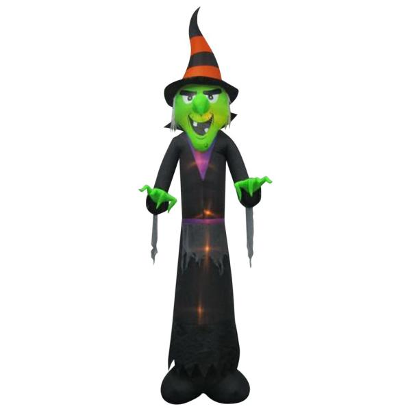 Gemmy 12 Ft. Inflatable Witch-75076 - Home Depot