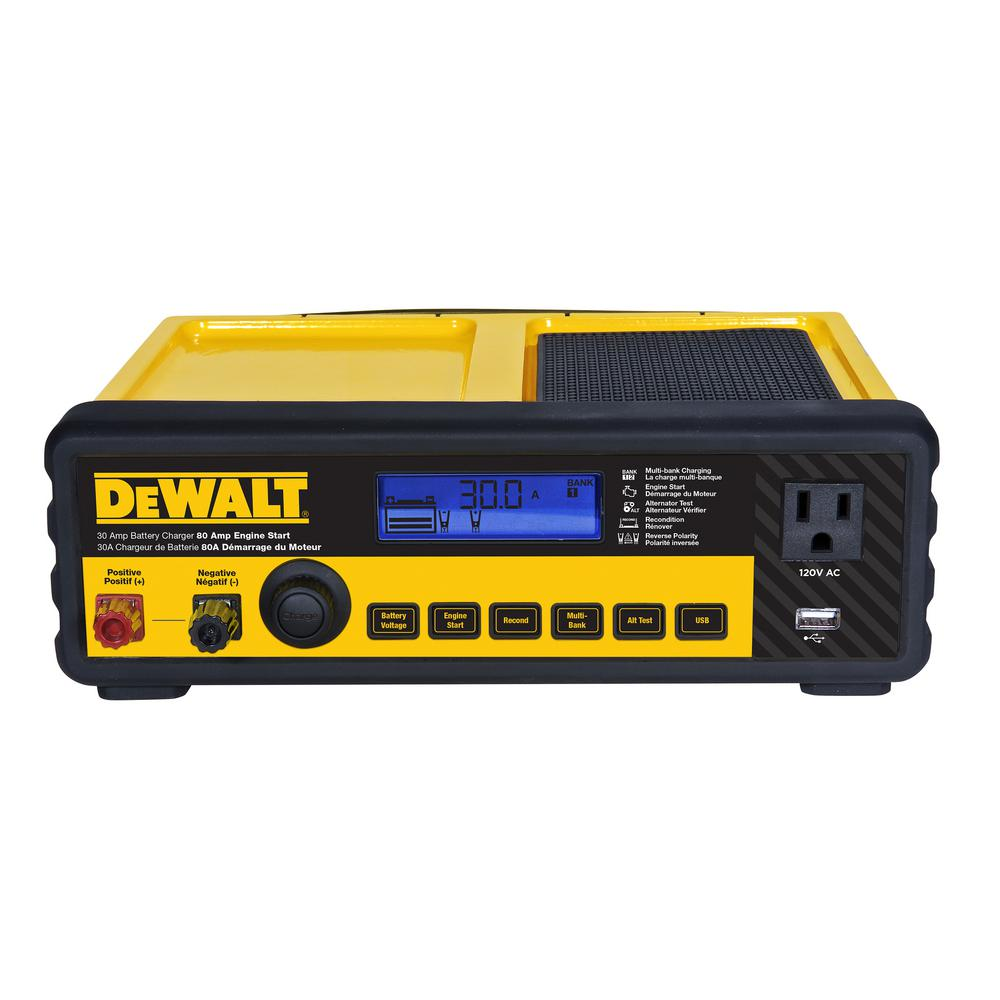 hight resolution of dewalt 30 amp multi bank battery charger with 80 amp engine start