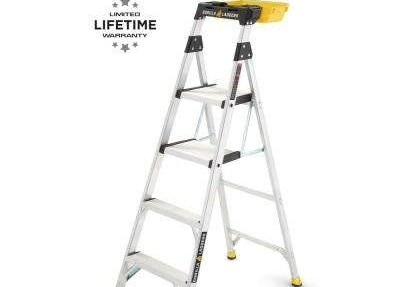Aluminum Step Ladders Ladders The Home Depot | Metal Steps Home Depot | Roofing | Galvanized Steel | Step Stool | Gorilla Ladders | Wrought Iron Railings