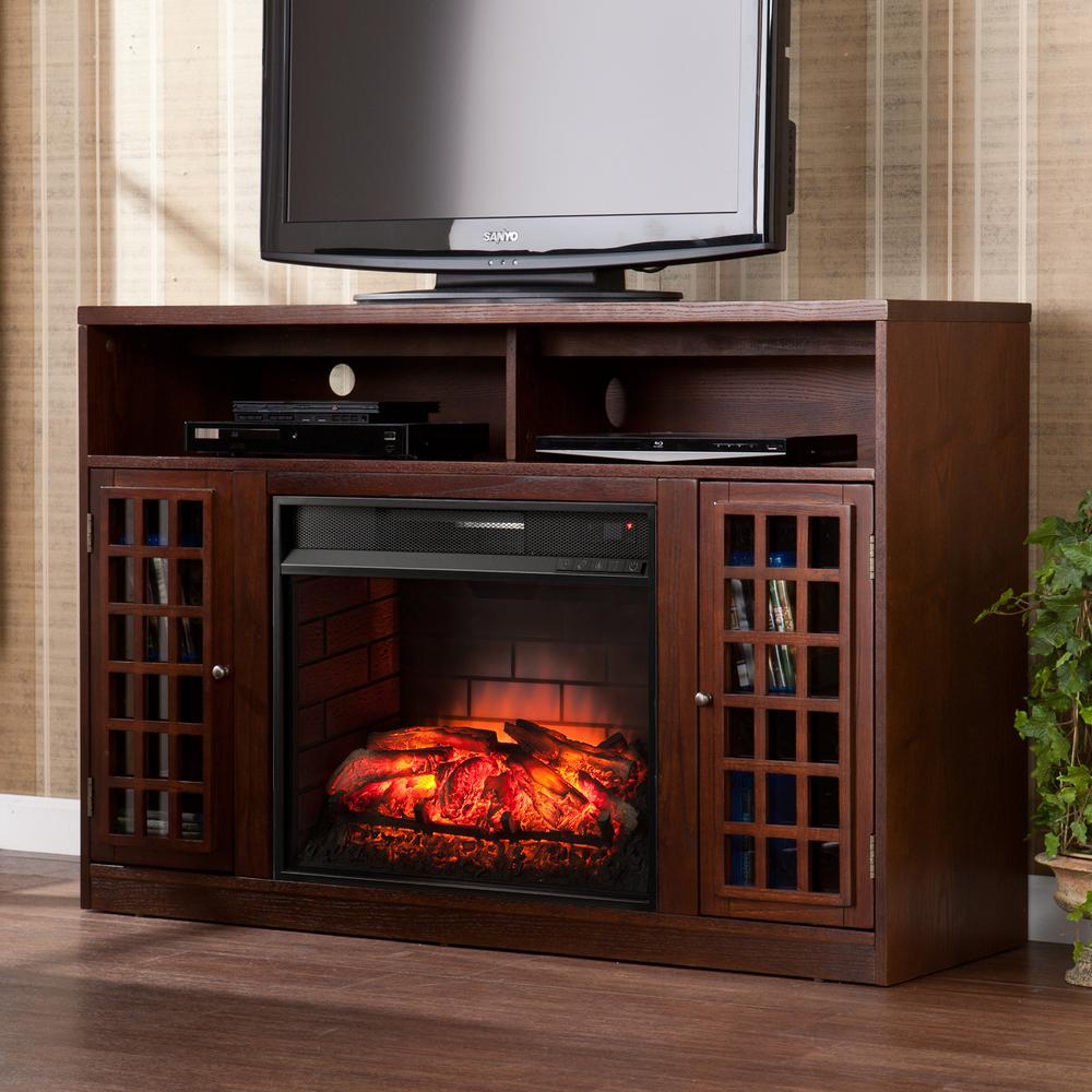 Real Flame Frederick 72 in Entertainment Center Electric Fireplace in White7740EW  The Home