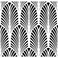 Designer Stencils Art Deco Fan All Over Wall Stencil-FS039 ...